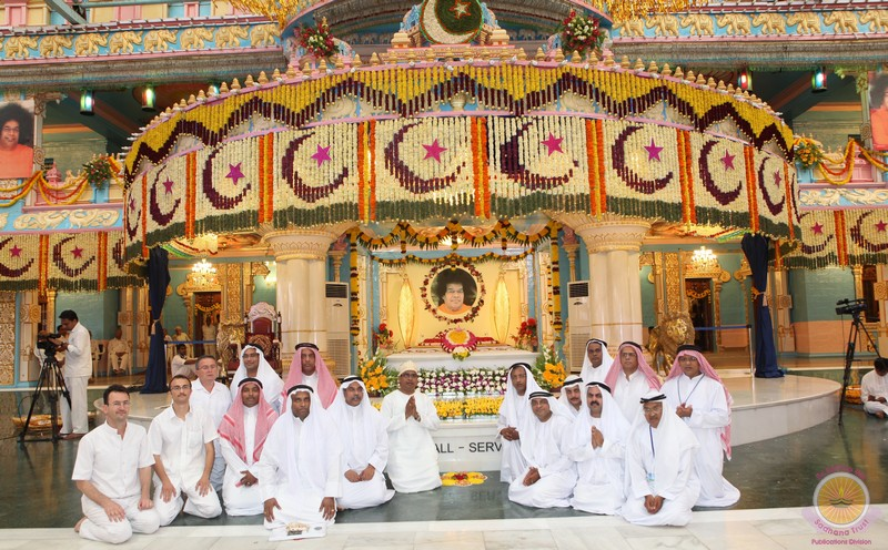 An Arabic Music Garland in Prasanthi Nilayam
