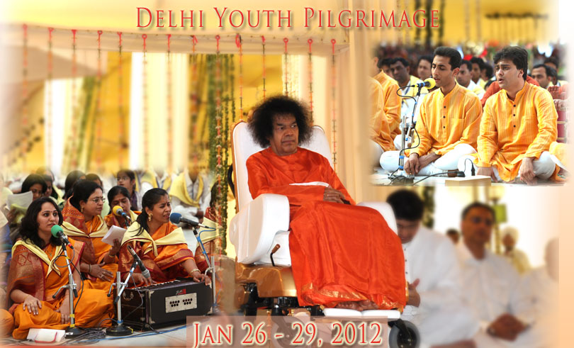 Prasanthi Pilgrimage of Delhi Youth 2012