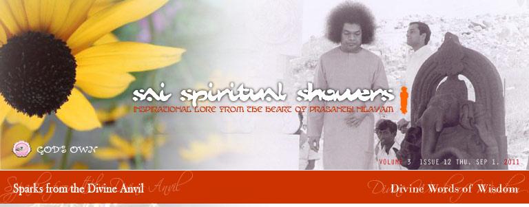 Sai Spiritual Shower Volume 3, Issue 12, Thu, Sep 1, 2011
