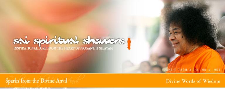 Sai Spiritual Showers: VOLUME 3  issue 8 thu, Aug 4, 2011
