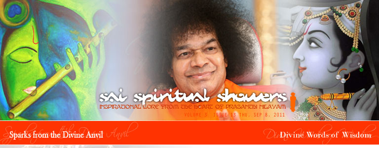Sai Spiritual Showers: VOLUME 3  issue 13 thu, Sep 8, 2011