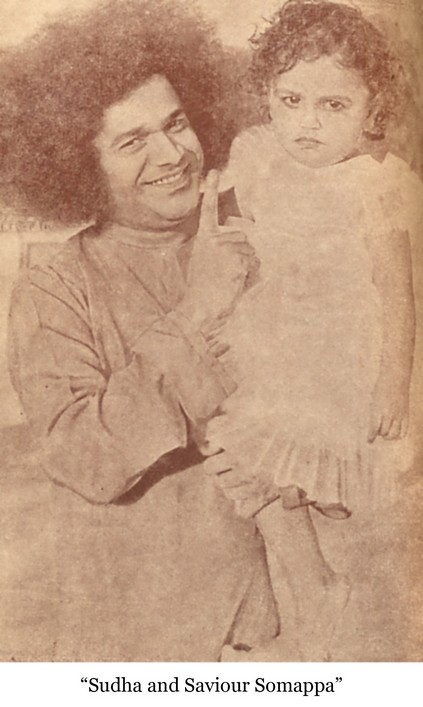 Bhagawan with the child
