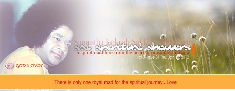 Sai Spiritual Showers: Vol 3, Issue 31 Thu, Jan 12, 2012