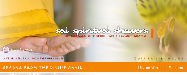 Sai Spiritual Showers: Volume 3, Issue 5, Thu, Jul 14, 2011