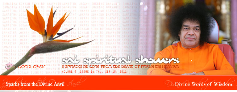 Sai Spiriutal Showers: VOLUME 3  issue 14 thu, Sep 15, 2011