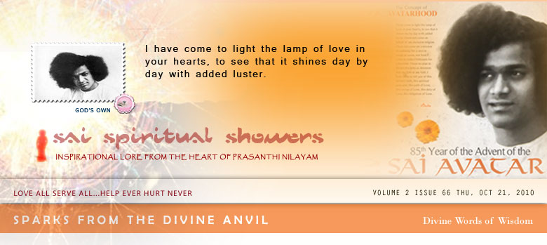 Sai Spiritual Showers: Inspirational Lore from the Heart of Prasanthi Nilayam