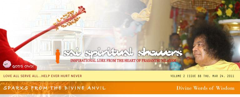 Sai Spiritual Showers Volume 2, Issue 88, Thu, Mar 24, 2011