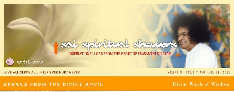 Sai Spiritual Showers VOLUME 3  issue 7 thu, jul 28, 2011