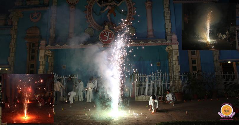 Dazzling Deepavali Twilight in Prasanthi Nilayam…