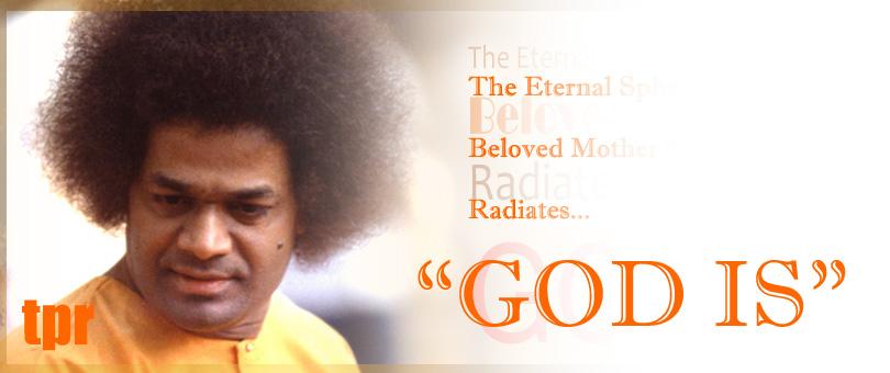 """La esfera eterna de Amada Madre Sai Irradia - """"Dios es '"""