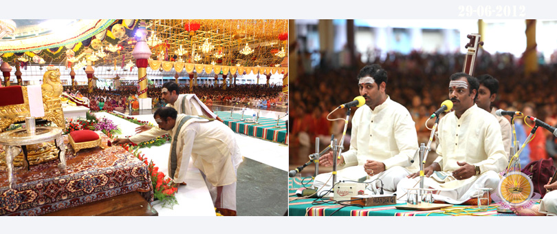 Malladi brothers offer their obeisance on Guru Purnima