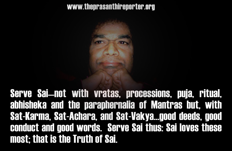 Who is an Ideal Sai devotee???